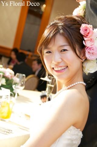 やわらかな色合いのラウンドブーケ ウェスティンホテル東京さんへ_b0113510_22562941.jpg