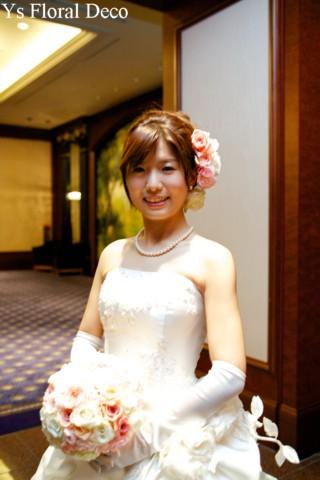 やわらかな色合いのラウンドブーケ ウェスティンホテル東京さんへ_b0113510_22563896.jpg