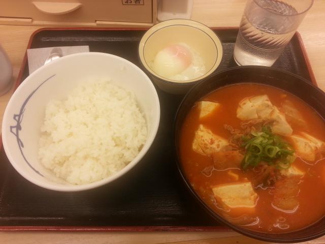 豆腐キムチチゲセット¥490@松屋_b0042308_15144641.jpg