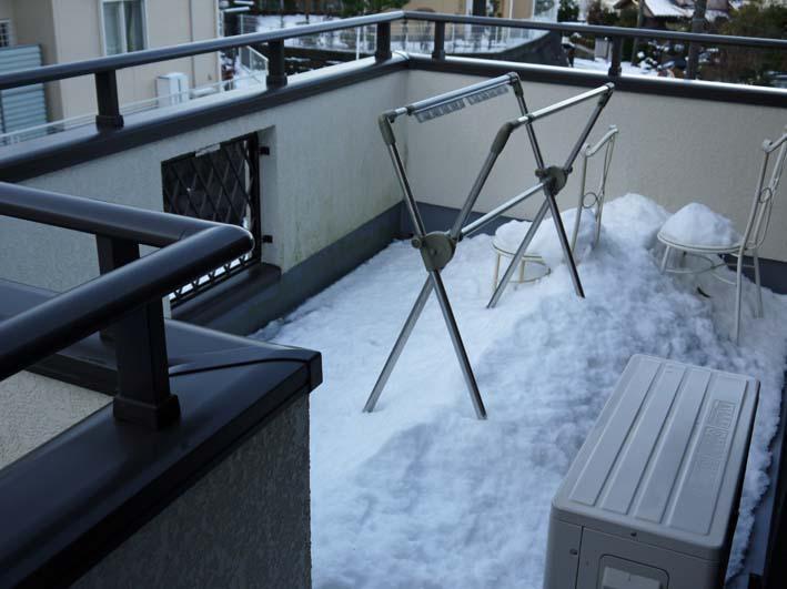六国見山自宅近くの日の当たらない道路の雪が依然凍結_c0014967_17263117.jpg