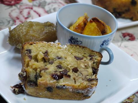 ナナママカフェの大人パウンドケーキ。_b0116313_2250301.jpg