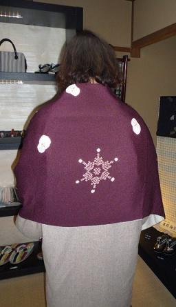 雪だるまのショールに素敵なお手製コートのお客様_f0181251_17393736.jpg
