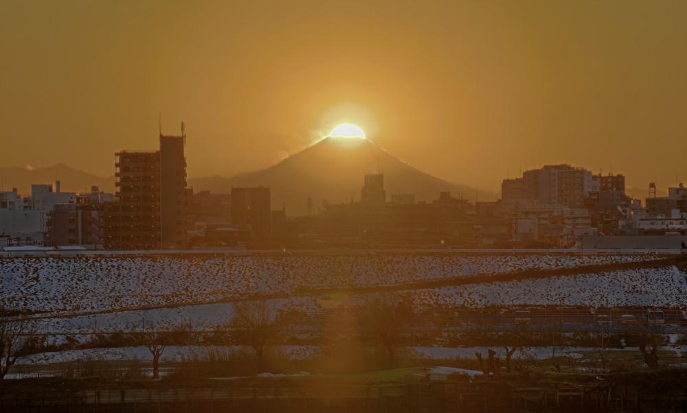 埼玉県川口市ダイヤモンド富士_a0150260_1103021.jpg