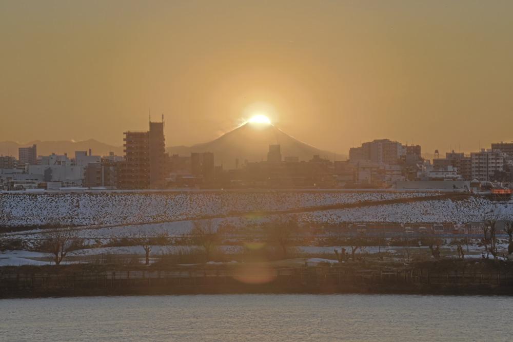 埼玉県川口市ダイヤモンド富士_a0150260_1105756.jpg