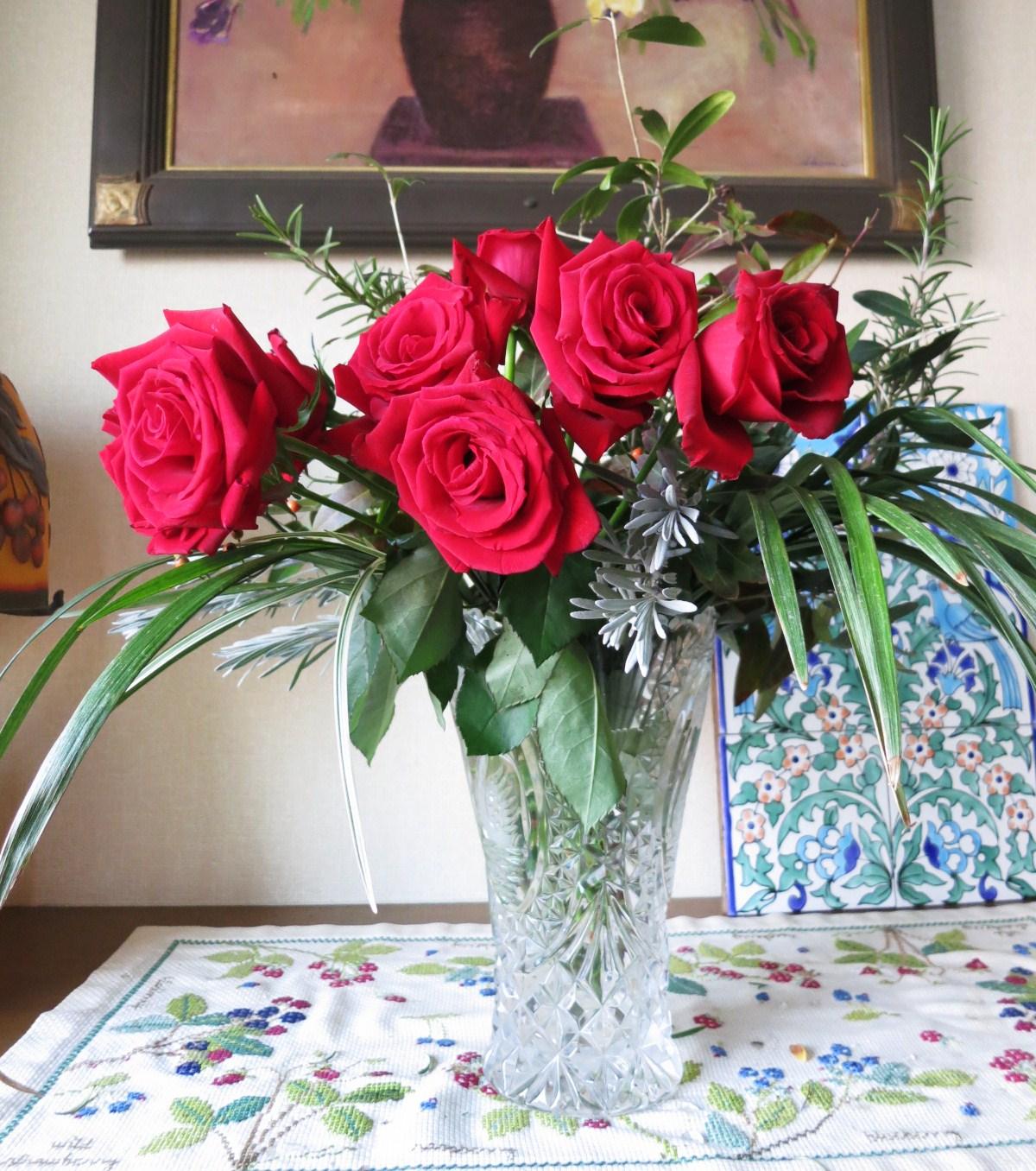 深紅のバラ(フラワーアレンジメント)_e0233674_15232842.jpg