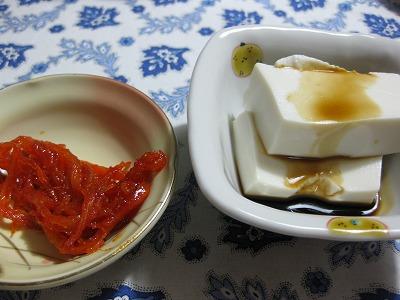 芽キャベツ天ぷら、海老と豆腐の中華風♪_f0116812_913088.jpg