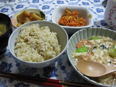 芽キャベツ天ぷら、海老と豆腐の中華風♪_f0116812_961298.jpg
