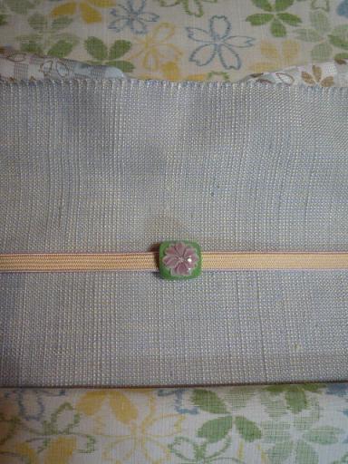 綺麗な桜の絵がすり紬を八寸帯でコーディネイト。_f0181251_18473396.jpg