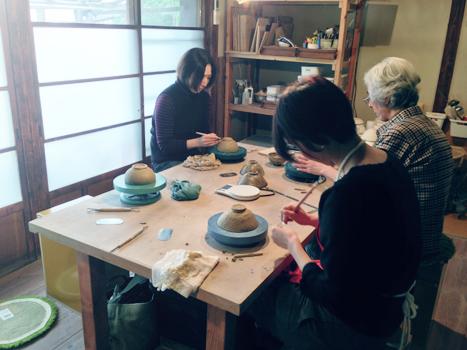 陶芸のワークショップ。  at home works さんにて_c0187782_2150747.jpg