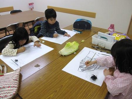 城陽教室 ~水墨画で白菜を描こう~_f0215199_16392910.jpg