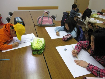 城陽教室 ~水墨画で白菜を描こう~_f0215199_16403395.jpg