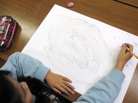 城陽教室 ~水墨画で白菜を描こう~_f0215199_16471983.jpg