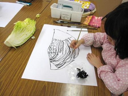 城陽教室 ~水墨画で白菜を描こう~_f0215199_1648202.jpg