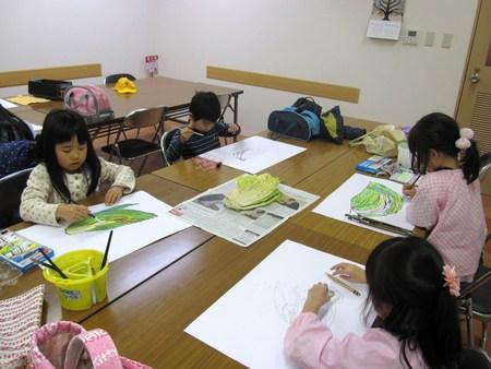 城陽教室 ~水墨画で白菜を描こう~_f0215199_16512944.jpg