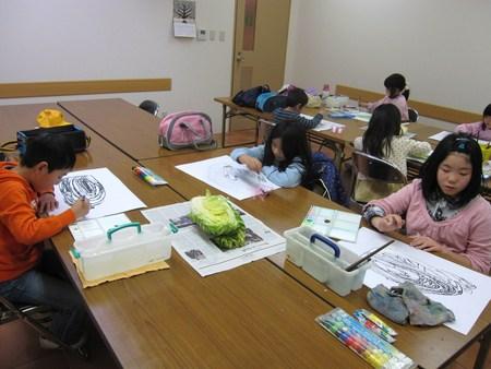 城陽教室 ~水墨画で白菜を描こう~_f0215199_16514139.jpg