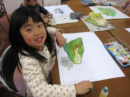 城陽教室 ~水墨画で白菜を描こう~_f0215199_16585668.jpg
