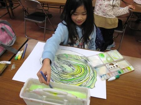 城陽教室 ~水墨画で白菜を描こう~_f0215199_17132917.jpg