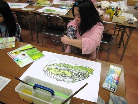 城陽教室 ~水墨画で白菜を描こう~_f0215199_174429.jpg