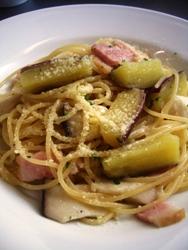1/25本日のパスタ:ベーコンとサツマイモのスパゲティ_a0116684_11362550.jpg