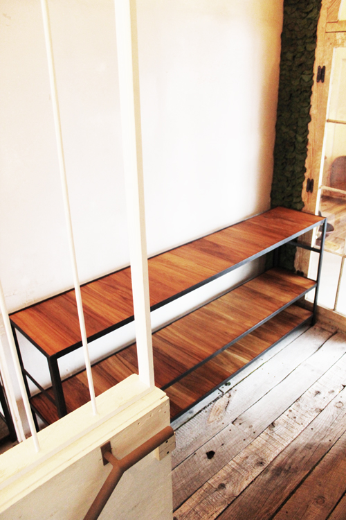 『iron  shelf   teakwood』_f0192906_1071515.jpg