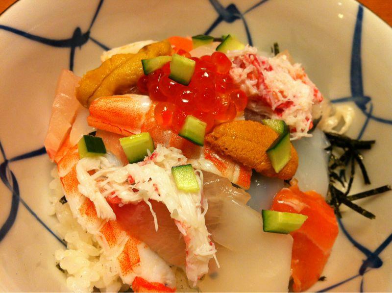 今日のバラ寿司は大好きな蒸しエビ&イカ多目なう!\(^o^)/_c0110051_051369.jpg