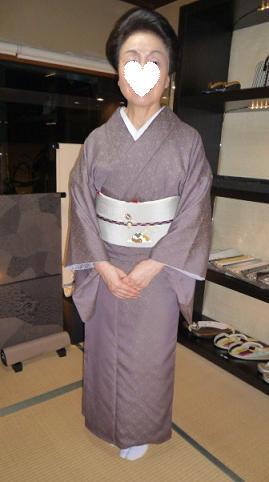 お客様の装い・鱗模様の染め帯にお召しの着物。_f0181251_15162247.jpg