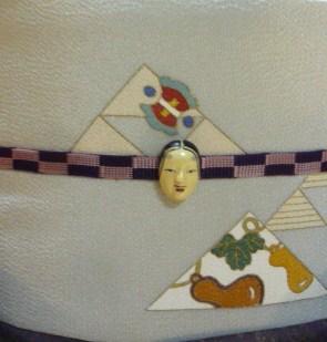 お客様の装い・鱗模様の染め帯にお召しの着物。_f0181251_15225241.jpg