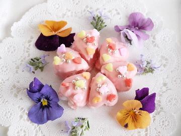 花を添えて。。。マシュマロハートの手作りチョコ_e0086864_8142511.jpg