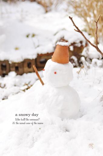 二度目の雪と、雪だるま。_d0174704_20593340.jpg