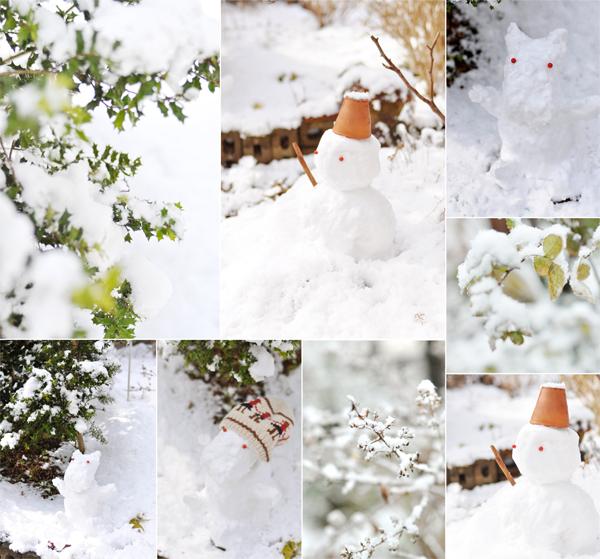 二度目の雪と、雪だるま。_d0174704_2174881.jpg