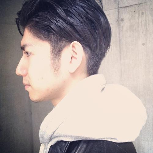 最新のヘアスタイル 髪型 メンズ マッシュボブ : ツーブロック〜オールバック ...