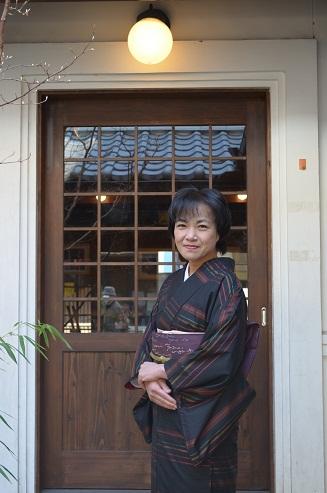 大島紬に文字遊びの袋帯を締めて _d0230676_14555954.jpg