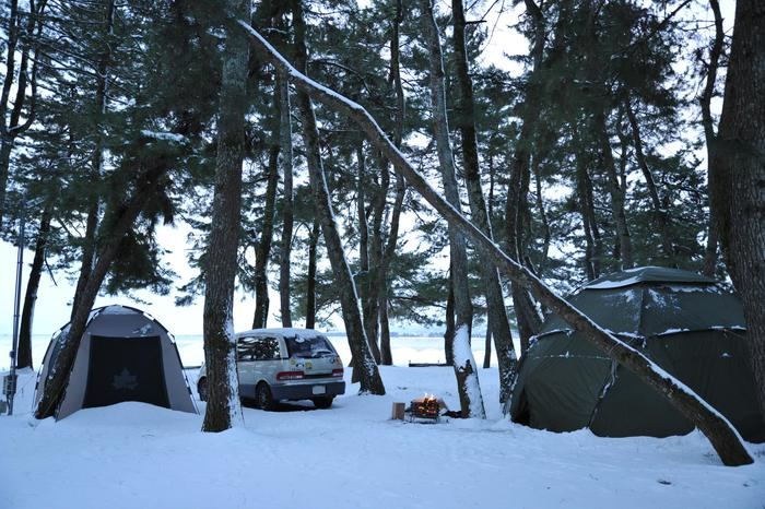 雪中キャンプ in 知内浜 part2_a0049296_2103375.jpg