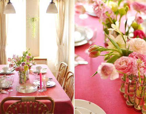 春は、大人ピンクのテーブルで_d0174704_14432635.jpg