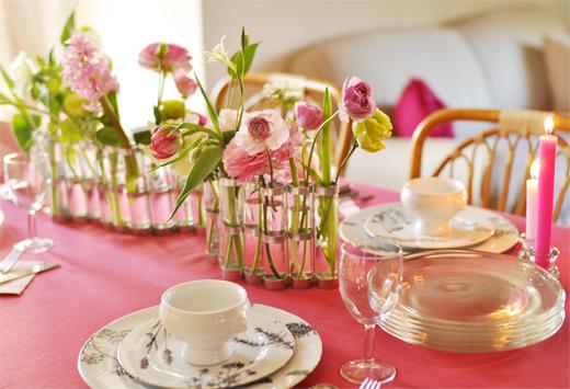 春は、大人ピンクのテーブルで_d0174704_1495522.jpg
