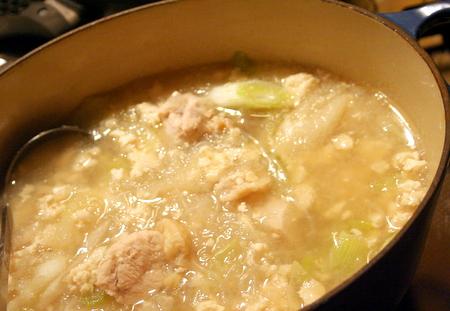受験生応援!! 鶏肉とくずし豆腐の生姜みぞれ汁_f0141419_6462621.jpg