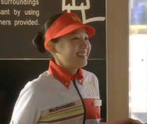 マクドナルド CM 朝マック 早起きの女の子の名前は青山美郷さんの画像と動画_e0192740_1933448.jpg