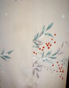いちごのはなさん・雪持ち南天の素敵な着物姿。_f0181251_17341520.jpg