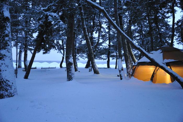 雪中キャンプ in 知内浜 part4_a0049296_1848561.jpg