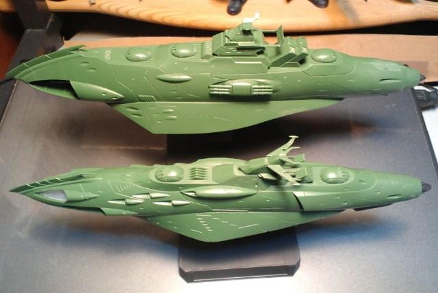 ガミラス艦セット  ケルカピア級 航宙高速巡洋艦_d0009833_23123922.jpg