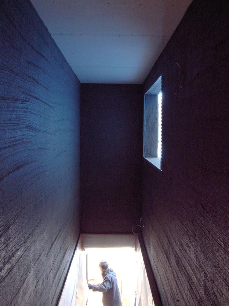 外壁左官工事はじまりました ~南麻布の家_a0117794_1833525.jpg