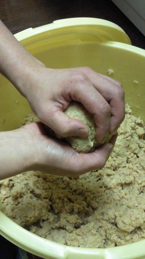 味噌作り☆とっても美味しそうな絵本「きょうのごはん」_e0160269_6414074.jpg
