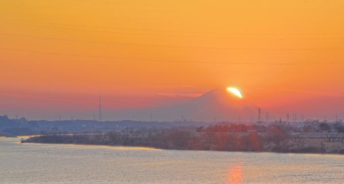 茨城県若草大橋ダイヤモンド富士                      画像をクリックしますと拡大します_a0150260_23202584.jpg