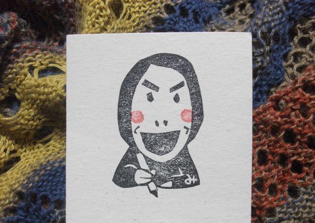 名刺に、自画像はんこ。_f0177745_5475399.jpg