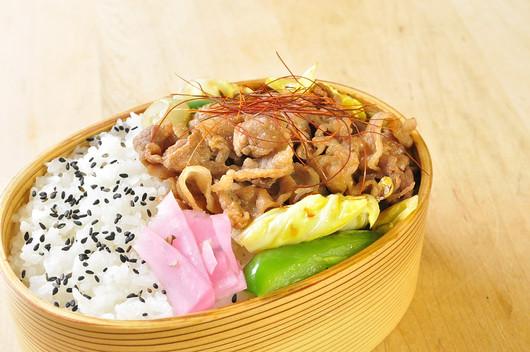 豚肉丼弁当_b0171098_853899.jpg