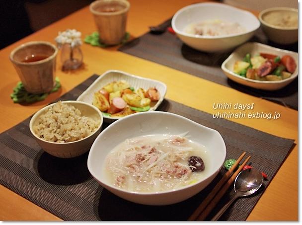 鶏ごぼう舞茸の炊き込みご飯_f0179404_2234363.jpg