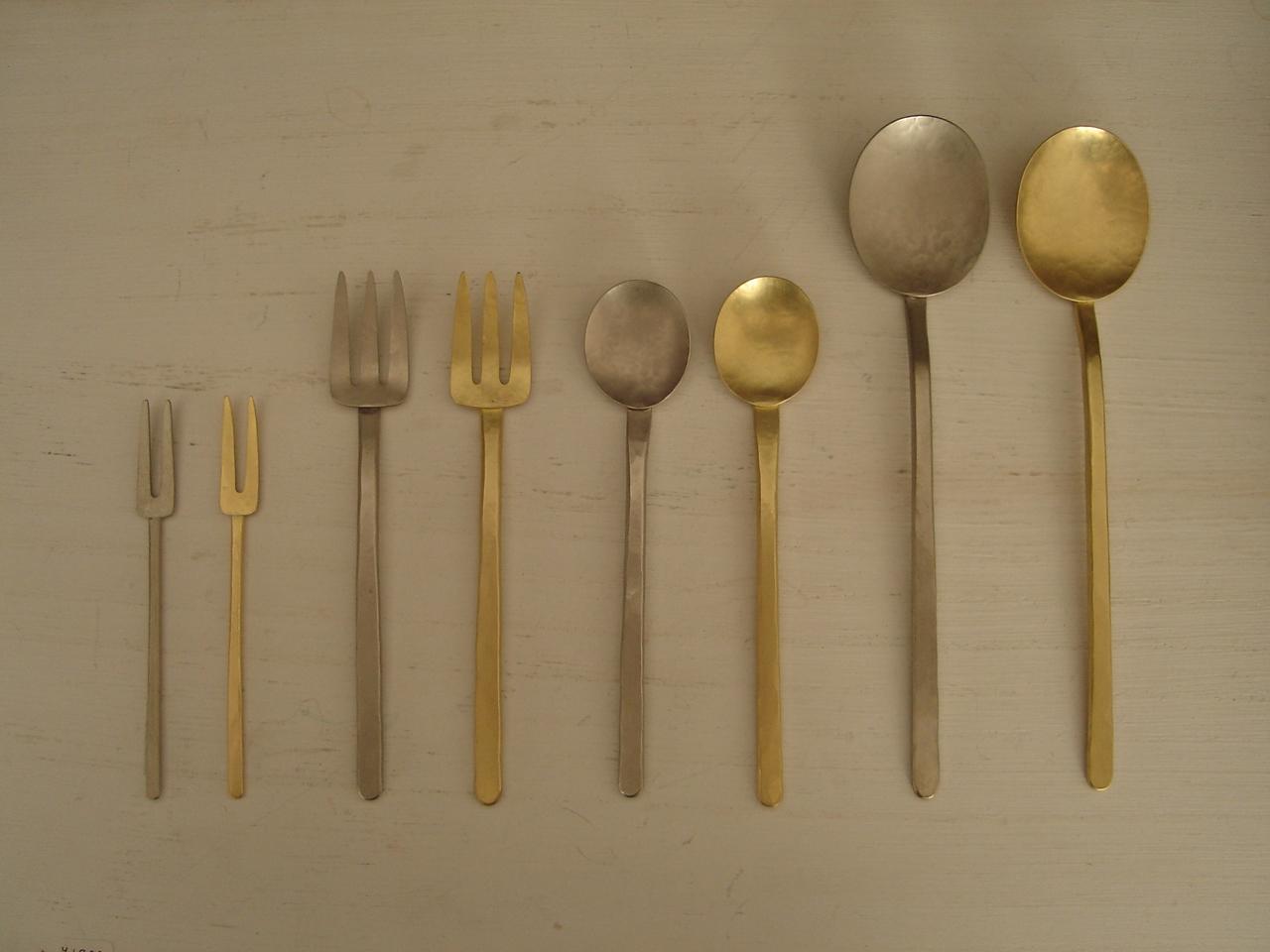 真鍮と洋白のカトラリー : お茶とギャラリー 1188