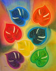2013/4/10-15 Keiko アートコレクション2013 ―人生は流れのままに愉しもう― 【水彩画、デザイン画】_e0091712_0295311.jpg