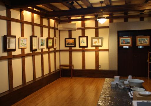 第一回・蔵織 日本画塾作品展が始まりました。_d0178448_16403088.jpg