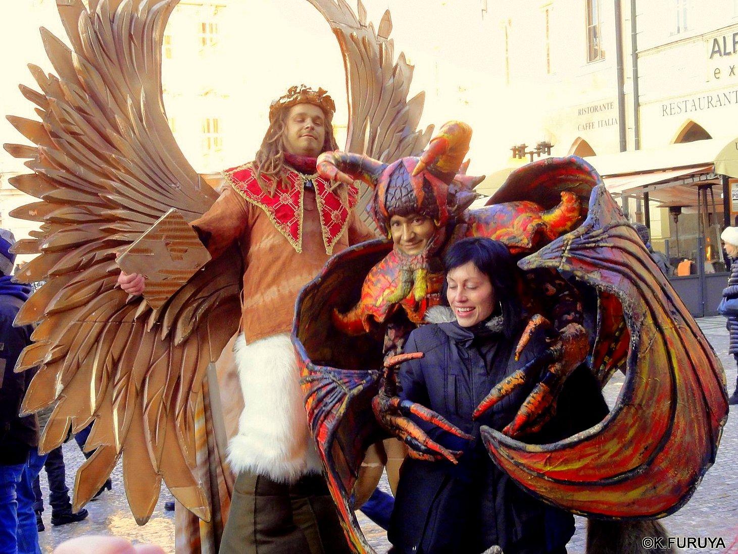 プラハ 10 旧市街広場のパフォーマー_a0092659_21315719.jpg